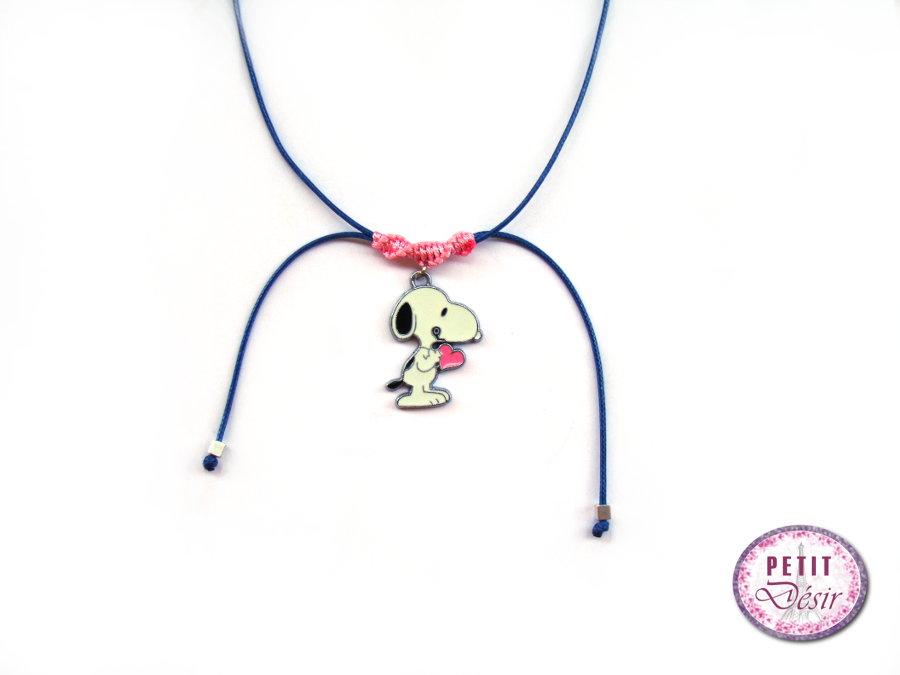 Κολιέ τσόκερ μακραμέ με Snoopy. COLIE-SNOOPY-KARDIA 0049af4701f